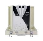 Royal digital wedding album cover fashion wooden photo album with leather case