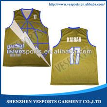 Polyester american basketball jersey