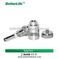 2014 Shenzhen Betterlife hot sale Huge vapor newest designer rechangeable coil head atomizer kayfun