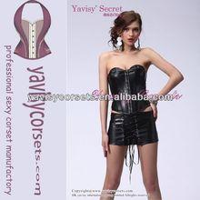 new arrival black sexy women leather corset bondage