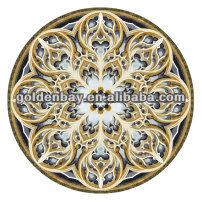 Water jet flooring marble pattern