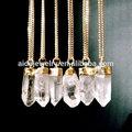 moda agata pietra naturale collana della pietra preziosa collana di cristallo di quarzo