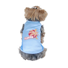 Dog Florida Blue & White Sport Jersey Pet summer clothes T shirt