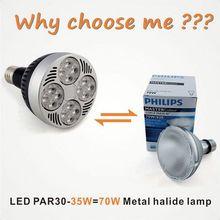 Dimmable 35W OSRAM par30 LED Spot Light E27 lampadine led