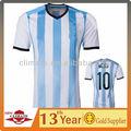 Nuevo Diseño de camisetas de la World Cup de fútbol 2014 del equipo argentino. Ropa de alta calidad para mayoristas