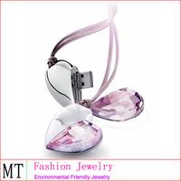 USB Flash Jewelry Rotating Diamond Necklace USB Flash Disk