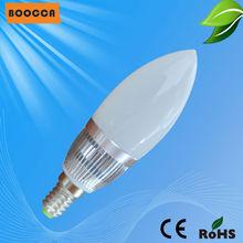 2014 Shanghai aluminum 3W dimmable E12 LED light