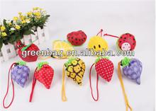 Wholesale fruit shape folding reusable bags for promotional gift