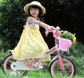 jenny royalbaly princesa niñas bicicleta de los niños con ruedas de entrenamiento y la canasta