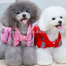 Fashion dog hooded raincoat
