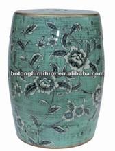 Antique Oriental ceramic drum stool