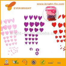 Valentine's Day Glitter Heart Shape Foamy Sticker