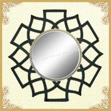 Latest unique hollow design decorative metal mirrored furniture(YF105)