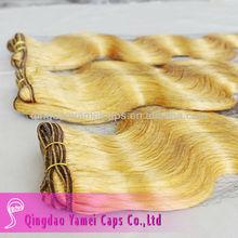 Factory price orange blonde cheap hair weft body wave (KY-WEFT-032001)