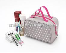 Polka Dots Travel Wash Cosmetic Bag