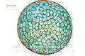 Ciotola di cocco lacca- madre- di- perlaincastonatain mosaico stile- colore verde migliore prezzo nel 2015 più nuovo disegno