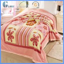 good quality 100 polyester travel 3d raschel mink blanket