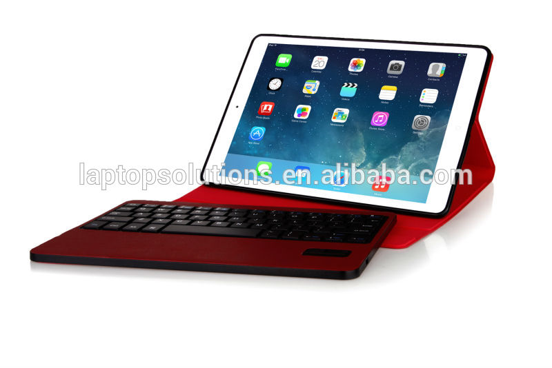 Ultra thin Detachable Wireless Bluetooth Keyboard Stand Portfolio Case for iPad Air