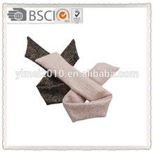 Shining fabric with wire headband,headband for fall and winter