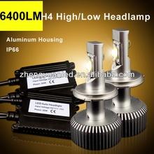 best headlight 6400LM/set h4 car led headlight kit replace 6000LM HID xenon headlight