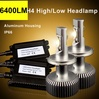 best headlight 6400LM/set h4 car led headlight kit replace 6000LM HID xenon headlight