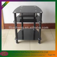 Modern Design Black Glass TV Display Cabinet ,TV Stand For LED/LCD/Plasma
