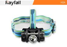 Rayfall Manufacturer Hot LED Miner Head light, Waterproof led Headlight, AA Battery led Head light H2A