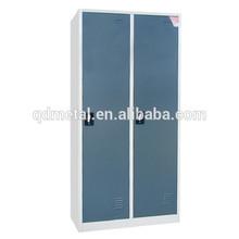 blue knock down 2-door steel clothes locker for school locker/gym locker