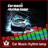 5-Color Change Flashing Car Sticker Music Rhythm LED EL Sheet Light Lamp Sound Equalizer Car Windows Sticker