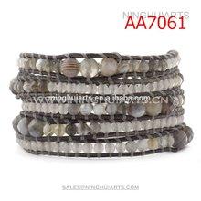 wholesale Fashion Hot sale leather single wrap bracelet nepal beaded bracelets Christmas decoration