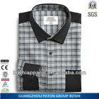 Wholesale Clothing Grey Mens Casual Plaid Shirt 2014 New Style SRM-P-21