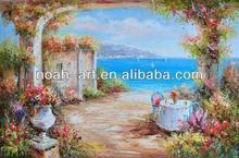 knife mediterranean oil painting landscape