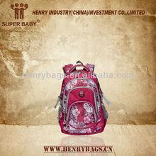 Fashion Girls School Backpack nylon with printing