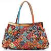 factory genuine leather bags genuine leather bags handbag flower casual tote bag EMG2839