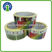 Hot sale self adhesive Custom made kraft and cardboard paper sticker sheet , transparent photo glossy paper