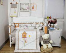2014 Newest Baby girl Design 100% cotton Baby Bedding Set