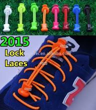 ( 50 laces colors )~2015 Promotion Lock Laces, Single Hole Locks style Elastic Shoelaces~Custom Elastic shoelaces with locks