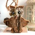 zakka creative muebles para el hogar de simulación de la corteza de la corteza de madera manualidades adornos c1805 búho