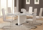 high gloss european dining set