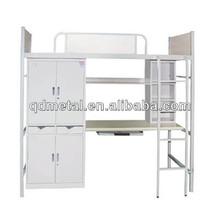 school metal bunk bed, student bed, campus metal bunk bed