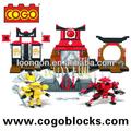 cogo juguetesdeplástico ninja bloques de la serie bot diferentes tipos de juguetes