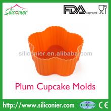 Silicone Cupcake Mold Plum Shape BPA Free