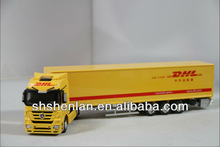 1:50 DHL metal toy truck and trailer