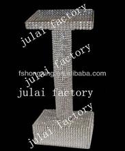 Crystal Podium Pillar, round shape Podium pillar for speach