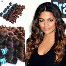 brazilian virgin hair/human hair extensions ombre hair weaves