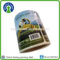 Rollo de pegatinas para la leche diaria, pegatinas personalizadas para comida baratas