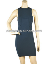 blue bodycon around neck fashion 2014 evening dress for annual meeting H303