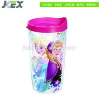 16oz round plastic mug with pp cover