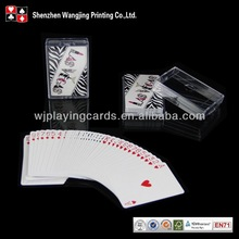 Clear Plastic Box Packed Playing Card With Your Own Design,Custom Design Card Game