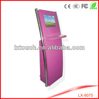 Self-service free standing touch screen kiosk / information kiosk with keyboard